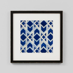 FRAMED PRINT: LAPIS BLUE GEOMETRIC TILE