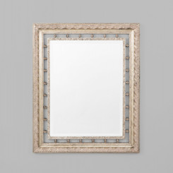 NEO CLASSICAL SILVER MIRROR  TRADITIONAL STYLE MIRROR WITH A DECORATIVE ORNATE SILVER FRAME.  DIMENSIONS: 113X138(CM)  AVAILABILITY: USUALLY SHIPS IN 2-4 WEEKS.