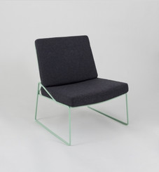 ONLI CHAIR: GREY (WITH PISTACHIO FRAME)