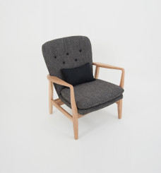 MAX ARMCHAIR: TWEED (BLACK BUTTONS)