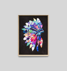 VIBRANT HEADDRESS BLACK