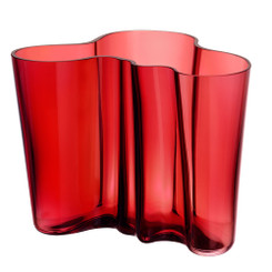 IITTALA - ALVAR AALTO COLLECTION - CRANBERRY VASE