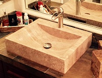 TashMart Rectangular Stone Vessel Sink