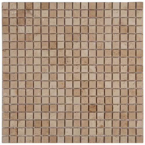 TashMart Stone Sinks Travertine Sinks Bathroom Vessel Sinks - 2 inch by 2 inch ceramic tiles