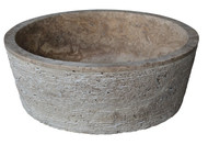 Brushed Natural Stone Vessel Sink in Noce Travertine