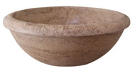Rim Top Natural Stone Vessel Sink - Noce Travertine