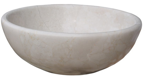 Beige marble classic vessel sink