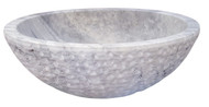 Antico Travertine Chiseled Round Vessel Sink