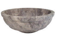 TashMart Elegant Natural Stone Vessel Sink in Antico Travertine