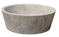 TashMart Tapered Natural Stone Vessel Sink in Antico Travertine