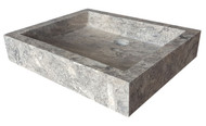Antico Travertine Rectangular Vessel Sink