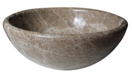 Classic Vessel Sink in Light Emperador Marble