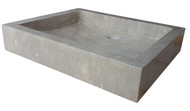 Rectangular Sink in Sea Grass Marble