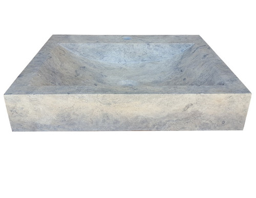 Rectangular Natural Stone Sink in Antico Travertine