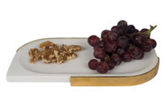 White marble cheese plate