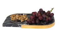 Black marble cheese plate