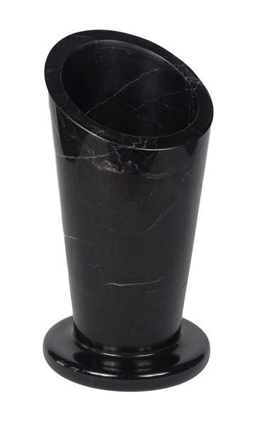 Black marble pen holder