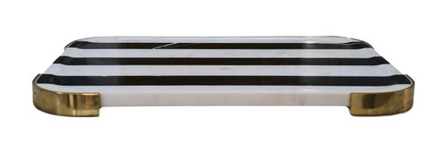 Black and white serving board