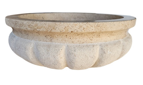 Signature Shell Natural Stone Sink in Noce Travertine