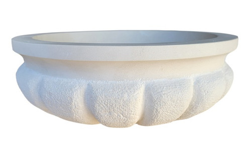 Signature Shell Natural Stone Sink in Light Travertine