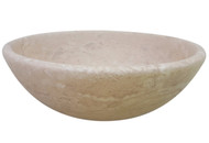 TashMart Classic Natural Stone Vessel Sink in Light Travertine