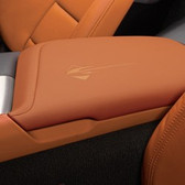C7 CORVETTE FLOOR CONSOLE LID WITH STINGRAY LOGO LEATHER-KALAHARI