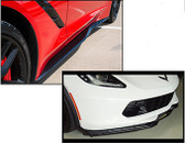 C7 Z06 FRONT SPLITTER & SIDE SKIRTS IN CARBON FLASH INSTALLED
