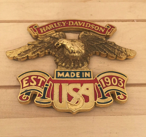 Harley-Davidson est. 1903 Made in USA Sissybar Medallion ( preowned)