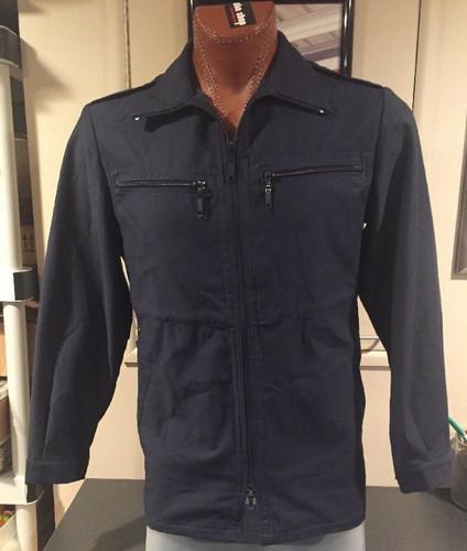 Vintage Feuchter Ringelai German Military Deck Jacket 1981 Blue Long Sleeve Sz M