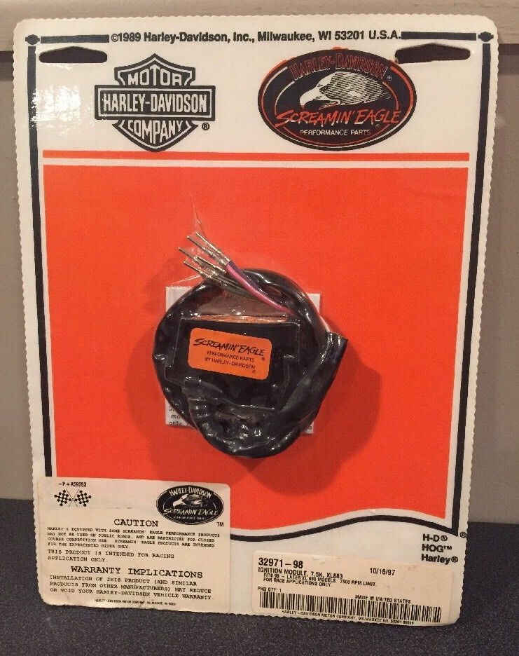 NOS H-D SCREAMIN EAGLE XL883 IGNITION MODULE 32971-98 RACE USE ONY 7500 RPM
