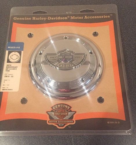 HARLEY-DAVIDSON 100TH ANNIVERSARY AIR CLEANER COVER #29019-03