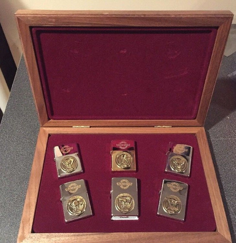 Harley-Davidson Lighter Engine Series Limited Edition Zippo Set with Wood Case