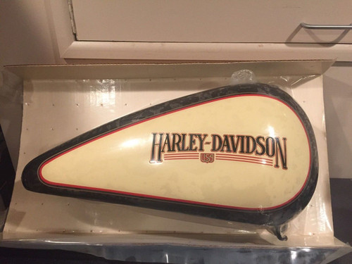 NOS HARLEY-DAVIDSON 1988 FLST Softail Black & Cream Right Side Gas tank #61211-88UG NEW IN SHRINKWRAP!! Shop The Garage