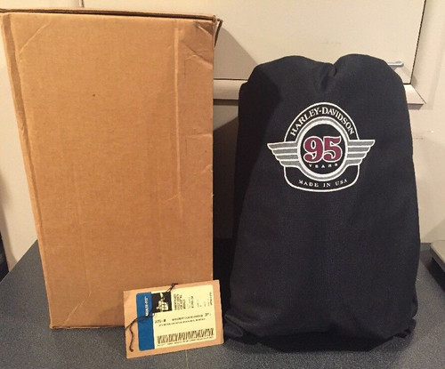 NOS HARLEY-DAVIDSON 95TH ANNIVERSARY INDOOR MOTORCYCLE COVER W/BAG # 91760-98