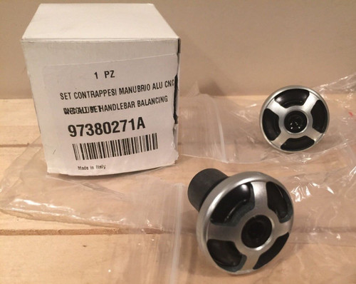 DUCATI SCRAMBLER CNC ALUMINUM BAR END SET # 97380271A NEW!! shopthegarage