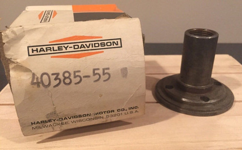 NOS OEM Harley-Davidson 40385-55 Panhead Compensator Nut with original box shopthegarage