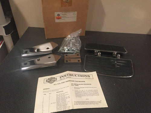 Harley-Davidson NOS 50601-83 FXRT passenger floorboards foot boards kit