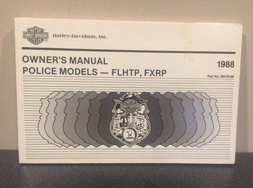 ORIGINAL HARLEY-DAVIDSON 1988 FHTP FXRP POLICE MODELS OWNERS MANUAL