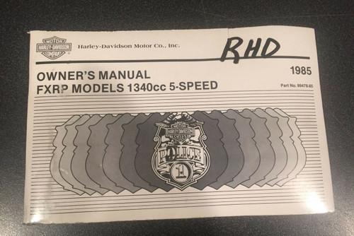 ORIGINAL HARLEY-DAVIDSON 1985 FXRP OWNERS MANUAL