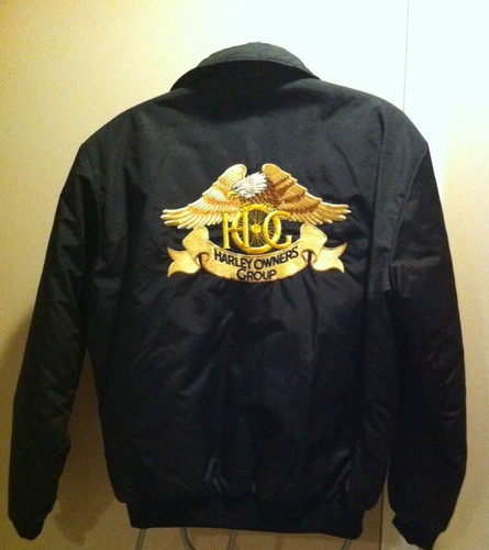 Vintage HOG Harley Owners Group Nylon Jacket,  MADE IN USA...Men's Medium