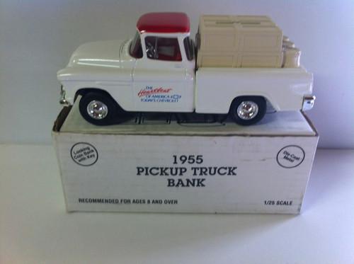 Ertle  die-cast 1955 Chevy Pickup truck Dime bank