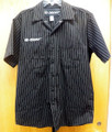 Men's Yamaha Star button down shirt black with pinstripes size M (preowned)