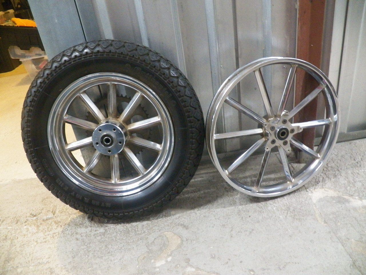 Used Harley Davidson Wheels >> Vintage 10 Spoke Invader Mag Wheels For Harley Davidson Preowned Pickup Only No Shipping