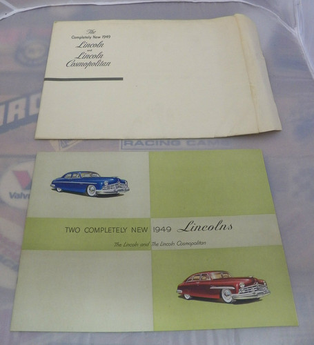 Original large 1949 Lincoln Prestige dealer color catalogue with original envelope