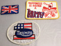 Three ( 3 ) Vintage small Triumph motorcycles cloth patches