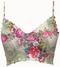 Jardin Adjustable Strap Print Mesh Bralette Bridal Lingerie XS by Claire Pettibone