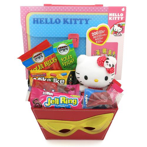 Hello Kitty Candy Activity Book & Sticker Mishloach Manot Gift Basket