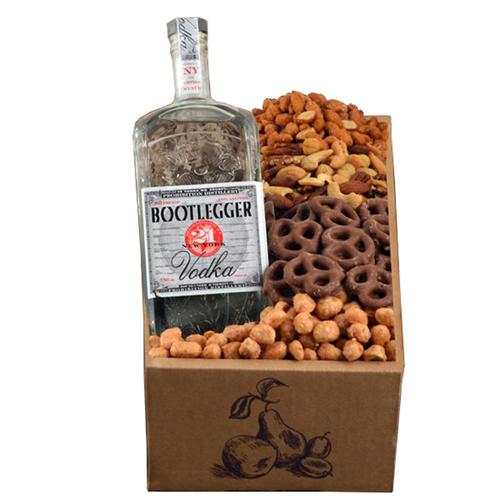 A Happy Purim Bootlegger Vodka Kosher Gift Box