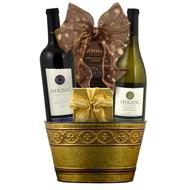 A Herzog Special Reserve Wine Delight Kosher Purim Gift Basket