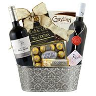 Very Elegant Yatir & Capcanes Best Red Wine Duo Kosher Purim Gift Basket